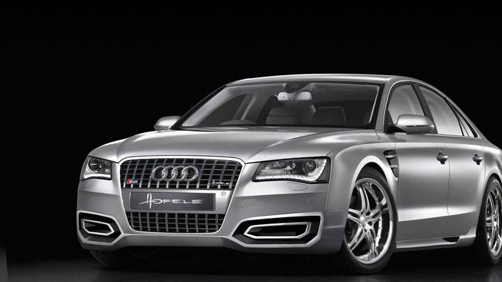Hofele Design Audi A8 D4 2010 Silver Color Front Pose
